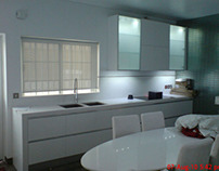 Full white kitchen