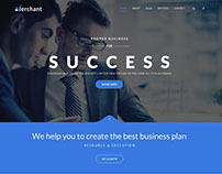 Merchant - Business, Finance & PSD & HTML5 Template