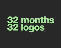 32 Months / 32 Logos