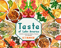 Taste of Latin America (Latin Food Fair Poster)