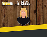 Kurt Cobain Stickers LuXaEs