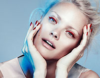 Frauke Fischer Beauty Editorial with Franziska Knuppe