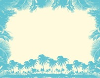 paradise palm beach vector art text box