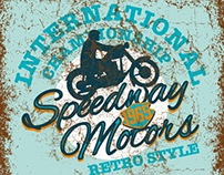speedway motors retro style vector art