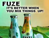 Fuze Drink Combined Design & Photography
