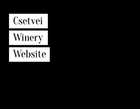 Csetvei Winery Website