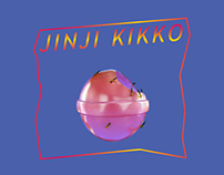 "Sunset Rollercoaster ""JINJI KIKKO"" album cover artwork"