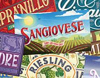 Wine Enthusiast Magazine Illustrations