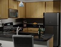 Interior Renderings - Hi-rise Apartment Community