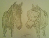 """Two Horses"" Christmas Commission Piece #2 (HB Only)"