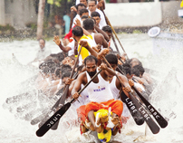 Snake Boat Race (Vallam Kali) - Kerala, India.