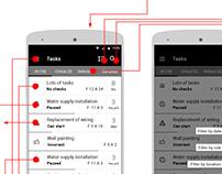 Construction task management mobile UX