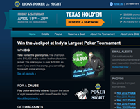 Lions Poker Tournament Website Redesign