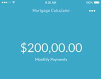 DailyUI #004: Mortgage Calculator