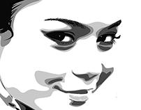 Vector portrait Vanessa Hudgens.