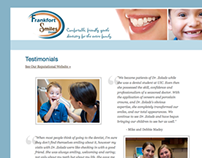 Frankfort Smiles Dental Website Design