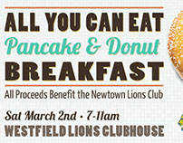 Lions Club Pancake & Donut Breakfast