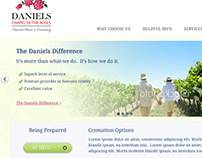 Daniels Chapel of the Roses Web Design