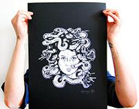 serigraphie medusa poster / tee-shirt