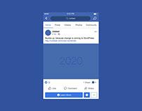 Facebook Mobile Post Mockup - 2020
