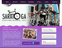 Saratoga Cycling Studio Web Design