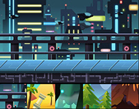 5 Game Backgrounds | Side Scrolling