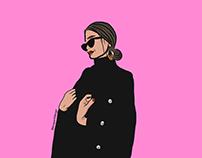 Lady in Black Coat
