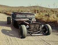 1930s era ratrod car 3d model