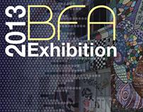 2013 BFA Exhibition Postcard