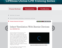 CPRbase Web Design & Registration User Interface