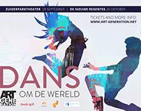 Dans om de wereld Poster design