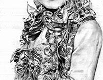 Pencil sketch | KIERA KNIGHTLEY