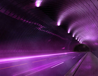 3D Purple Highway