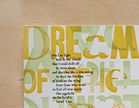 Typographic Letterpress Posters