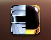 "Daft Punk ""Random Access Memories"" based App icon"