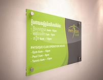 Physique Club Mockup Design