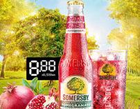 Somersby Pomegranate Bottle & Glass
