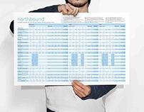 Northbound Amtrak Timetable Redesign
