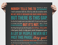 Ira Glass Quote Poster