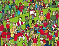 Series of Illustrations for Arsenal FC 'Junior Gunners'