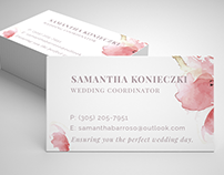 Wedding Coordinator Handouts & Business Card