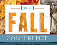 Fall Conference Flyer Template