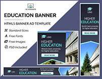 Higher Education Banner- HTML5 Ad Templates