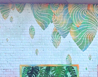 "mural ""Dripping greens."""