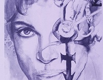 Prince Portrait for Purple MCR Exhibition