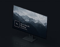 All In One PC Mockup