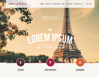 Hexagonal – Clean Multipurpose Responsive Website