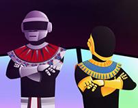Daft Punk: French House Pharaohs (Poster)