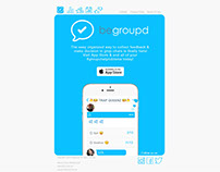 Begroupd group messaging app email Design