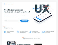 Сlean landing page for learning UX development & design